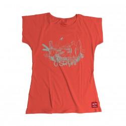 Camisetas Mujer G3rra Surf3rs Naranja Estándar